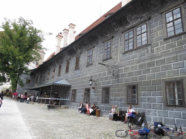 チェスキー・クルムロフ城 外壁 ペイント 絵 チェコ