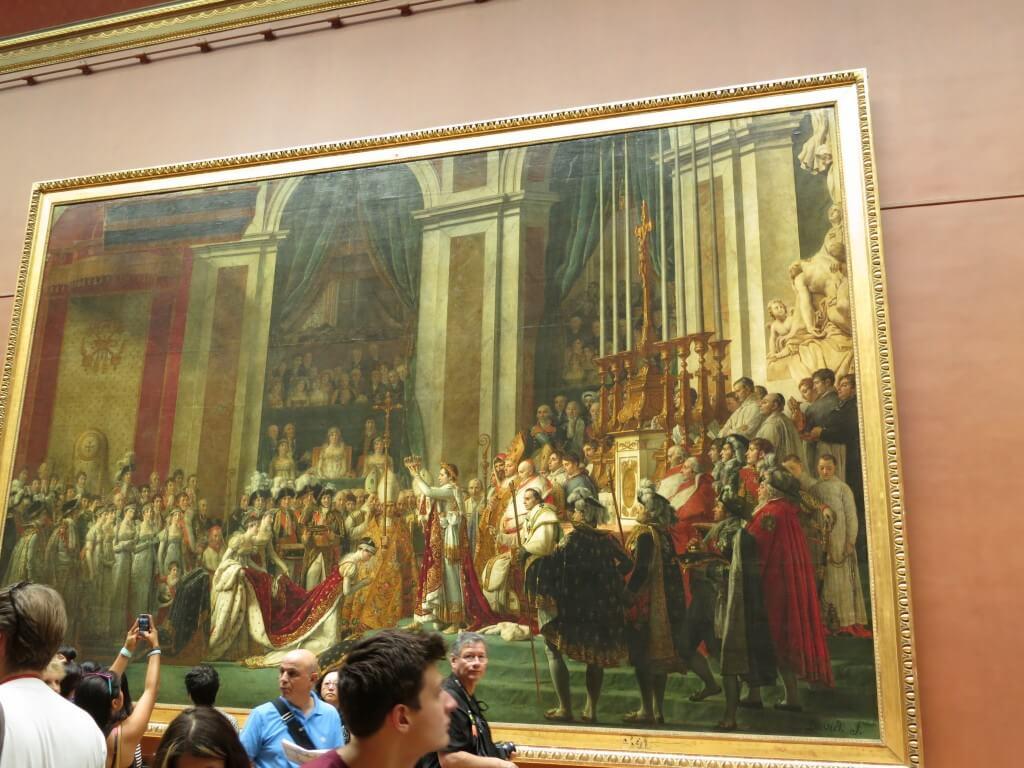 ダヴィド ナポレオン1世の戴冠 絵画 ルーヴル美術館 パリ フランス