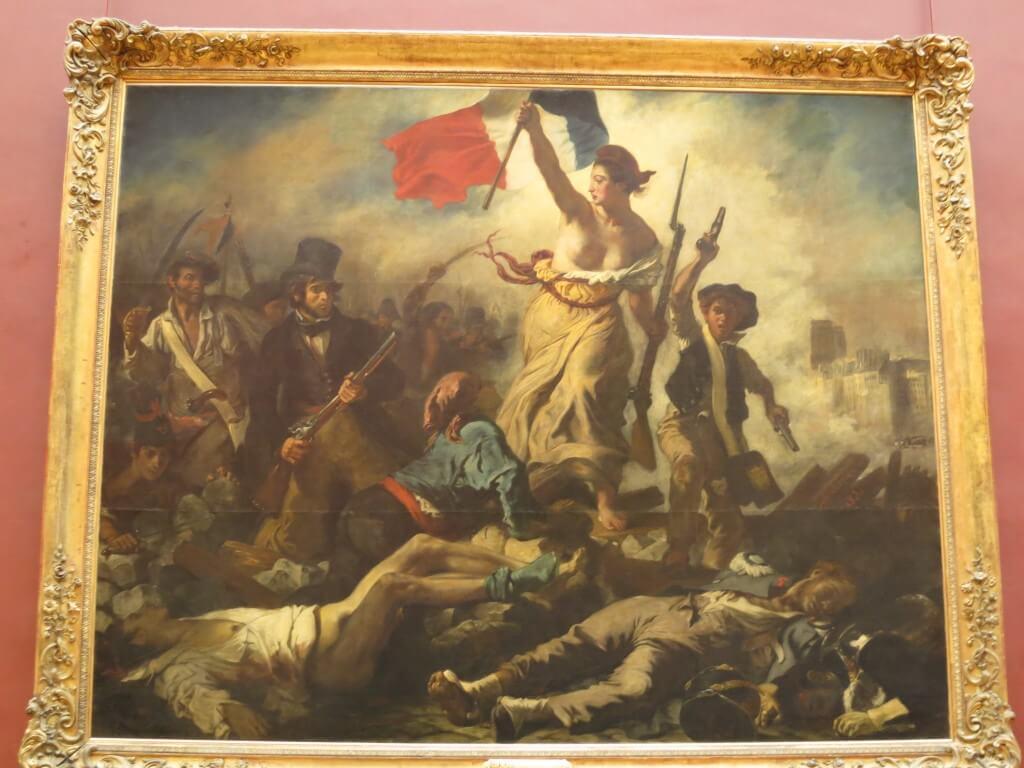 ドラクロワ 民衆を導く自由の女神 絵画 ルーヴル美術館 パリ フランス