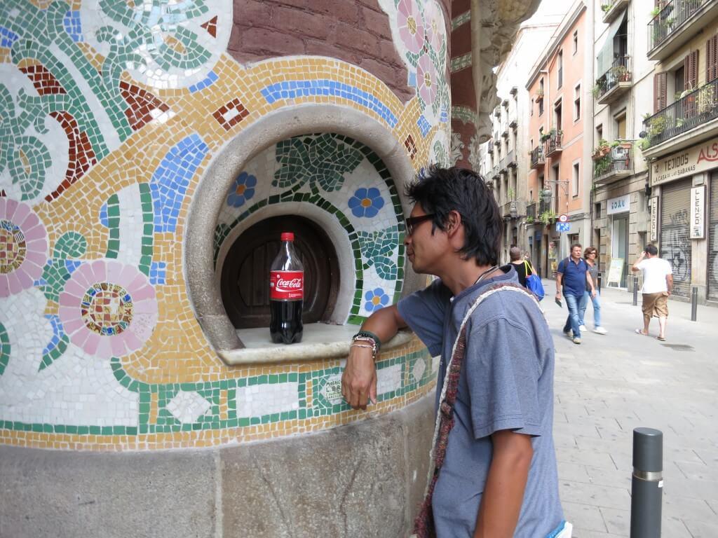 今日のコーラ バルセロナのおしゃれバー風