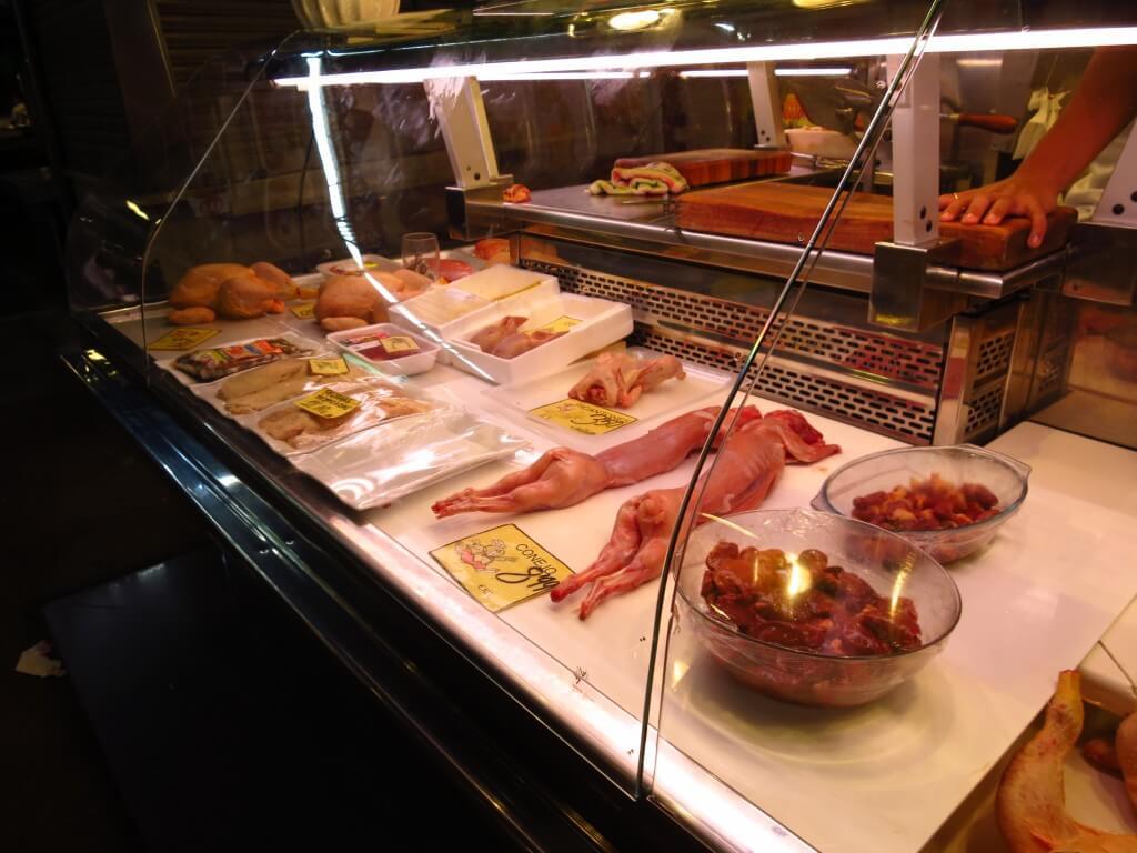ウサギ肉 魚卸売り市場 サン・ジョセップ市場 バルセロナ