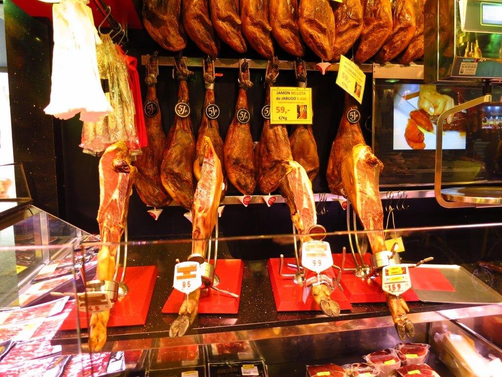 バルセロナの「サン・ジョセップ市場」、いや生ハム