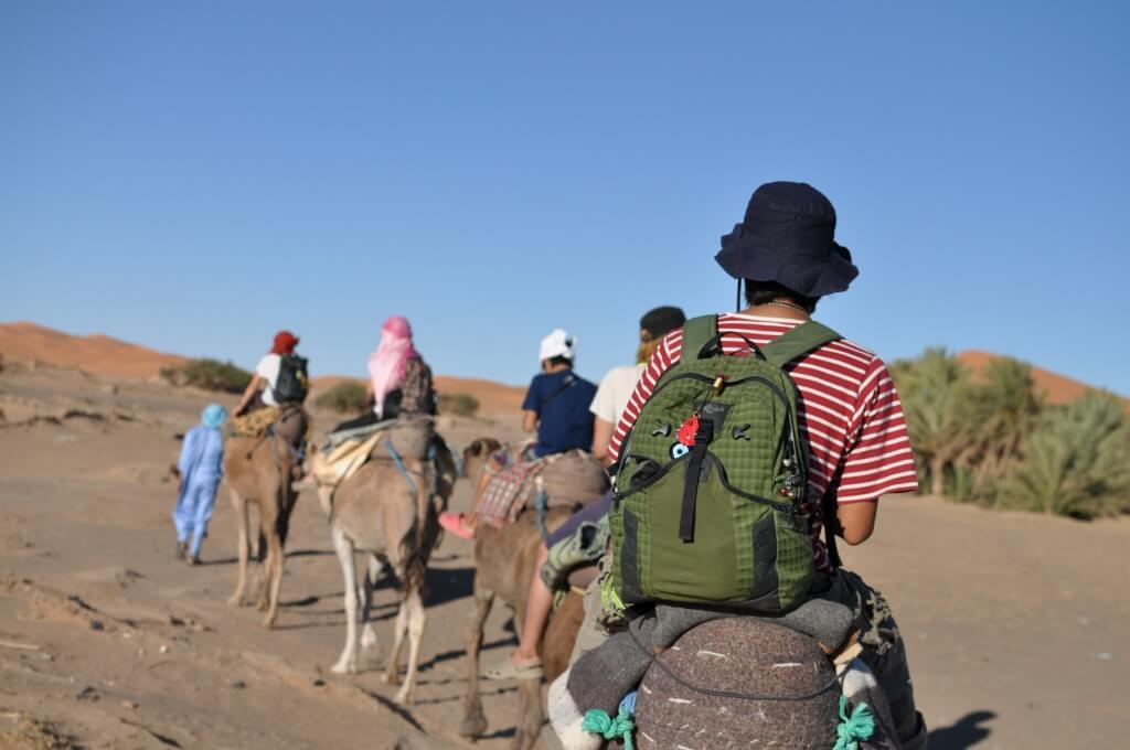 サハラ砂漠ツアー メルズーガ モロッコ らくだ