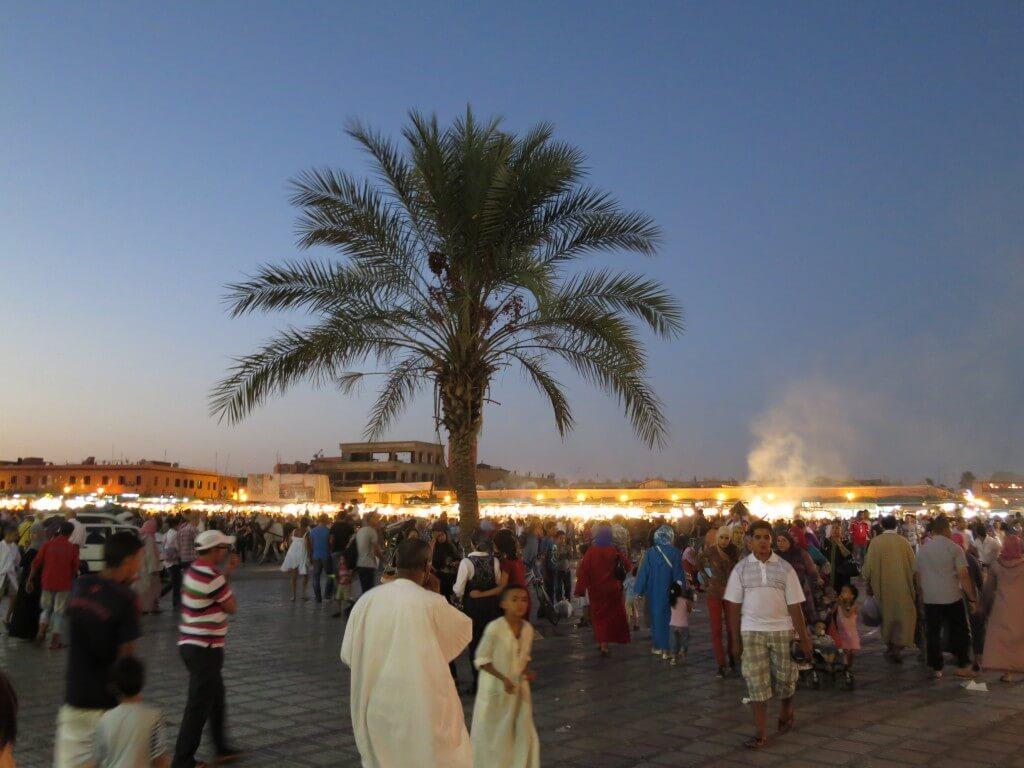 フナ広場 夜 マラケシュ モロッコ
