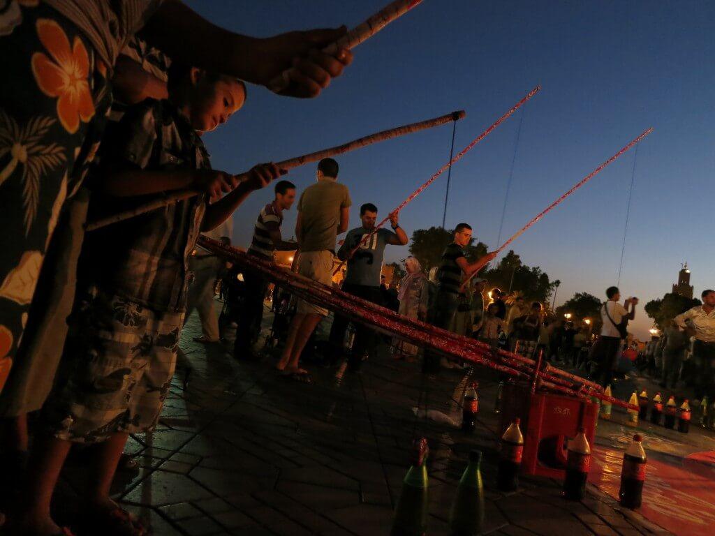フナ広場 夜 お祭り状態 マラケシュ モロッコ