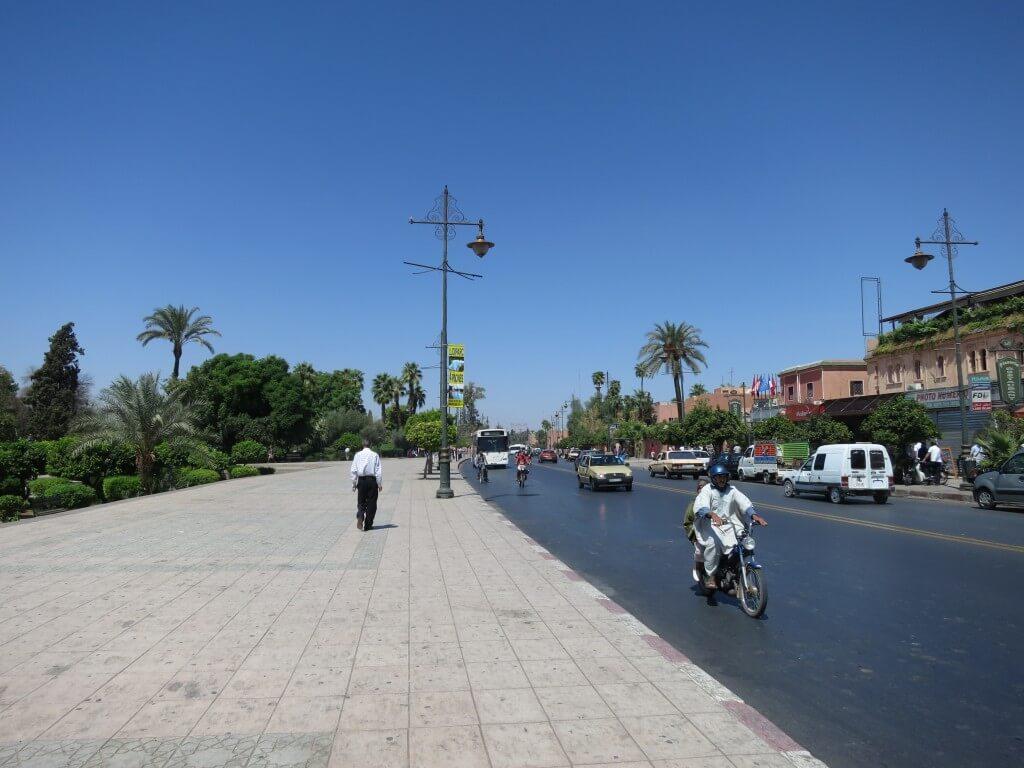 新市街 マラケシュ モロッコ 近代的