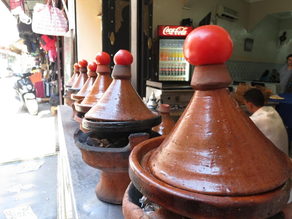 タジンの鍋 蓋 トマト マラケシュ 旧市街