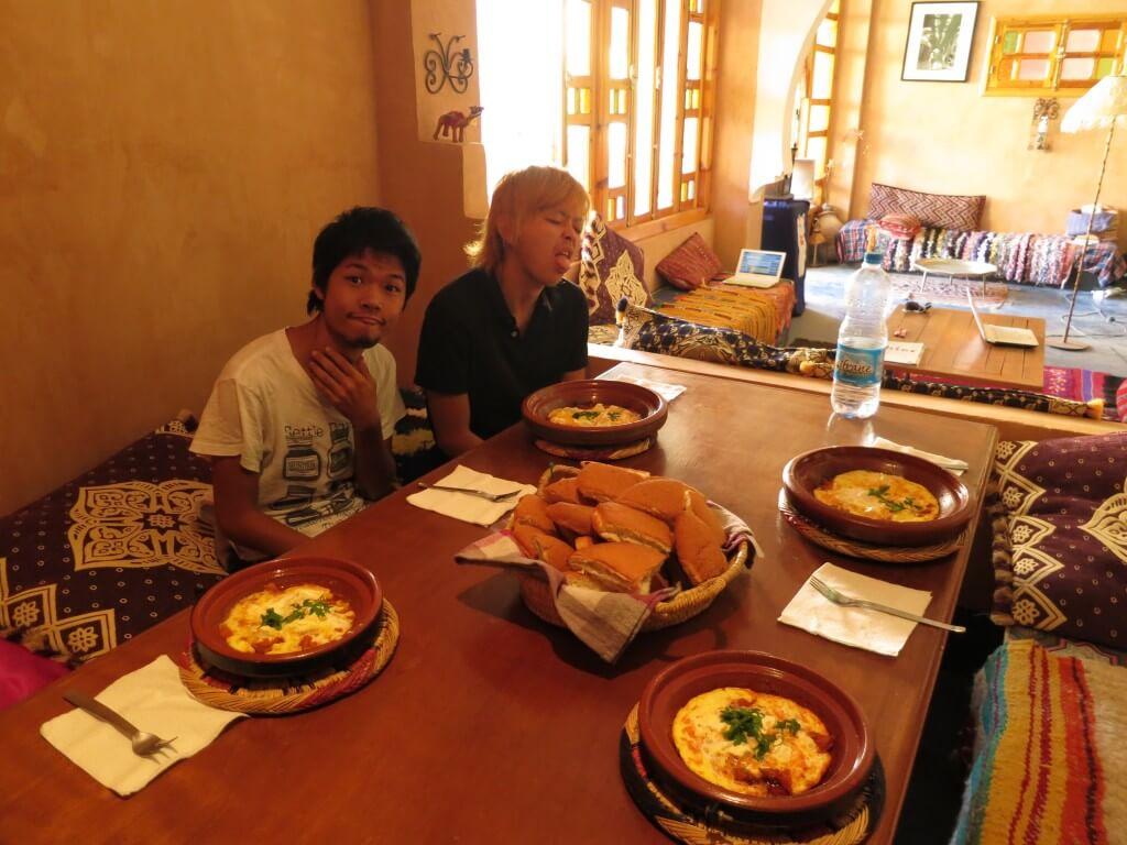 モロッコオムレツ のりこさんの宿 日本食 モロッコ トドラ ティネリール