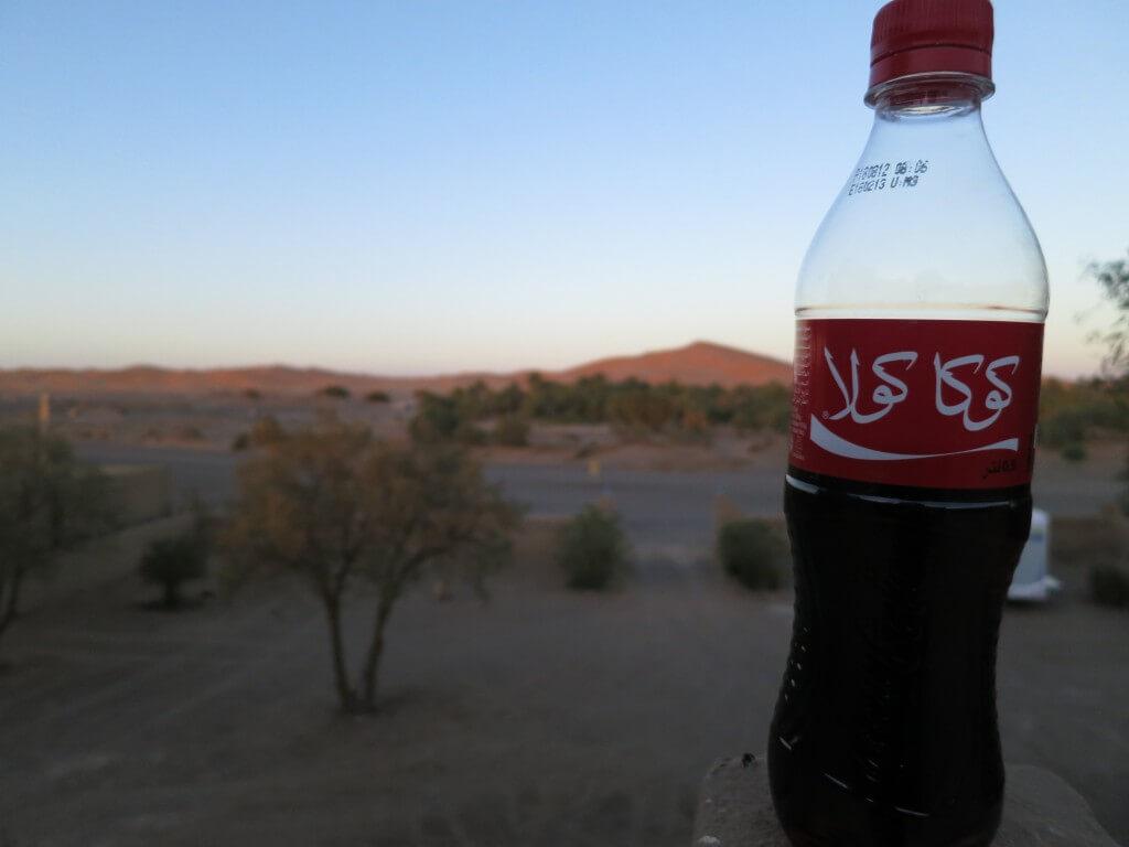 今日のコーラ サハラ砂漠に沈む夕日と大砂丘