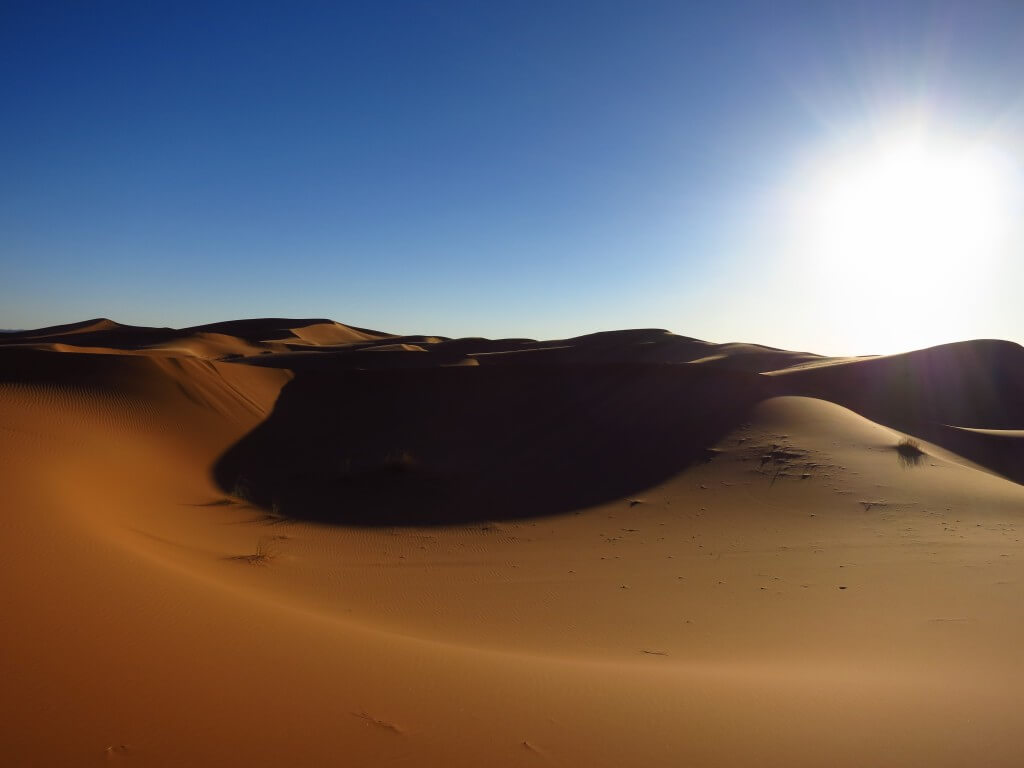 サハラ砂漠 灼熱 ツアー メルズーガ モロッコ