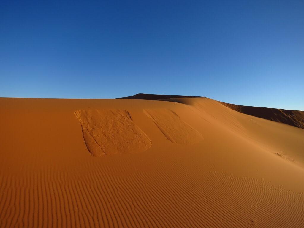 サハラ砂漠の風と砂が創り出すアート