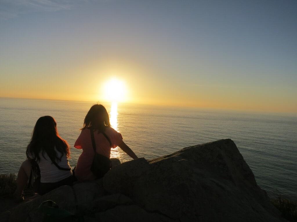 ロカ岬 シントラ ユーラシア大陸最西端 夕日 水平線 ポルトガル