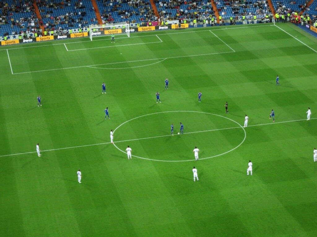 試合開始 レアル・マドリード サンティアゴ・ベルナベウ杯 スペイン