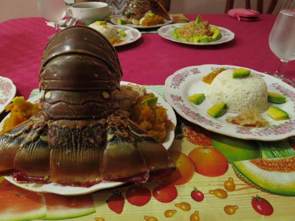 泊ったCASA(カサ)でもランゴスター(ロブスター)を食べたいって言えば・・・・。