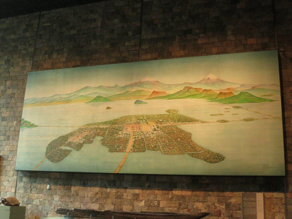 メキシコシティーは巨大な湖の上に建設された国家