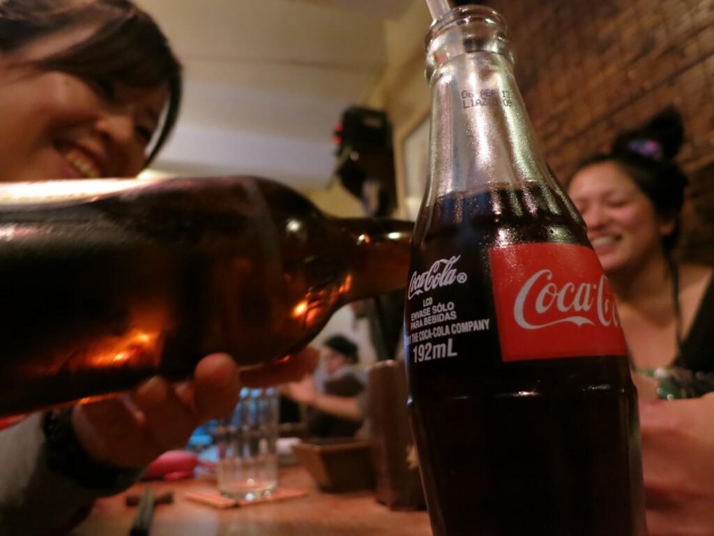今日のコーラ からかさの日本食と