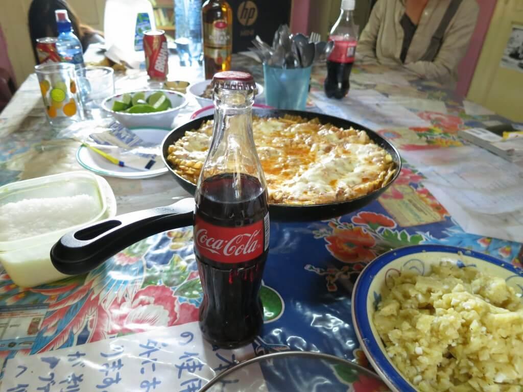 今日のコーラ タカハウスでラザニアパーティー