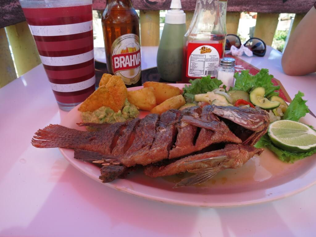 サン・ペドロ・ラ・ラグーナ 魚料理 アティトラン湖 グアテマラ