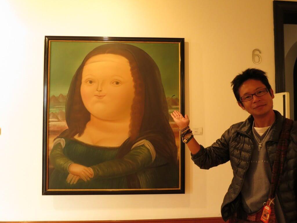 ボテロ博物館の有名な絵!ボテロにかかれば「モナリザ」も、「ひまわり」も・・・。