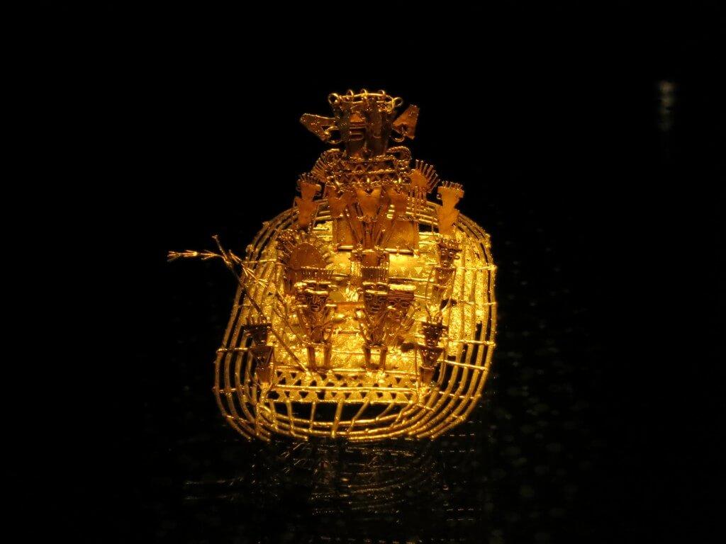 黄金のいかだ 黄金博物館 黄金 ボゴタ コロンビア