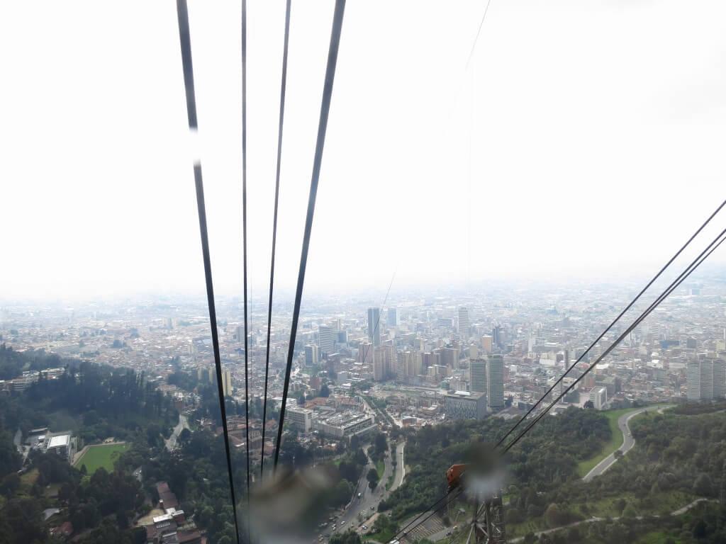 モンセラーテの丘 ロープウェイ 高い ボゴタ コロンビア