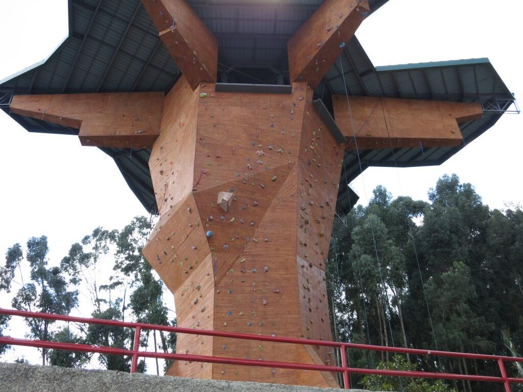 ロッククライミング シキパラ 岩塩教会 コロンビア