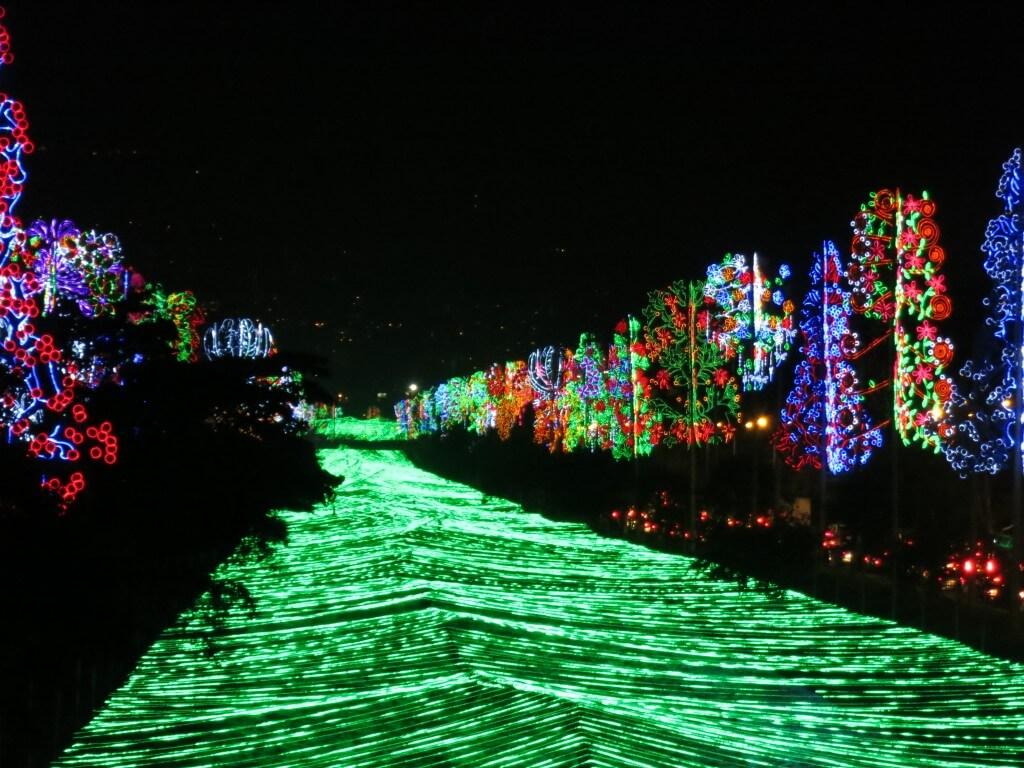 メデジンのクリスマスパレードの次はクリスマスイルミネーションだ!!