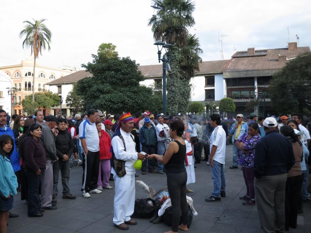 独立広場 キト 旧市街 エクアドル