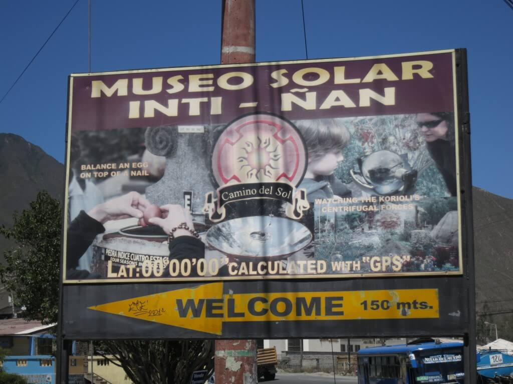 本物の赤道にある赤道ミュージアム(Museo Solar Inti-nan)で実験!楽しすぎ!!