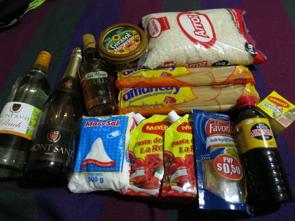 グアヤキルで食料品を機内預けの荷物の重量制限限界まで買い込め!ガラパゴス諸島で自炊で節約!