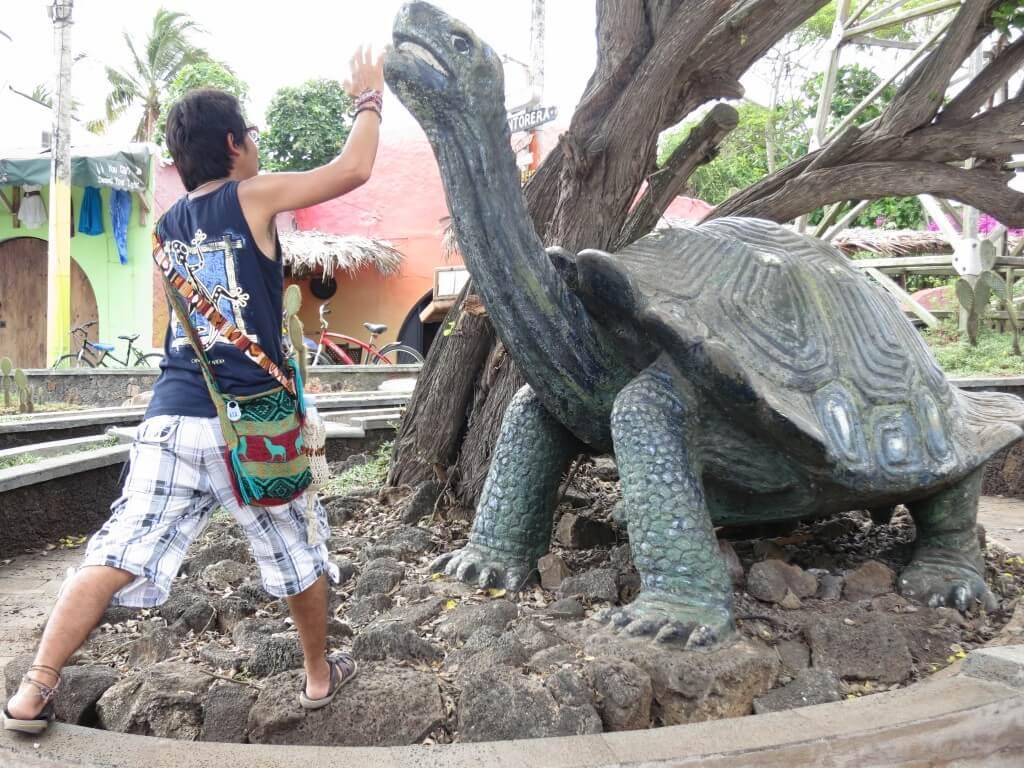 ボクはガラパゴス諸島のサンタ・クルス島で日々精進しております。