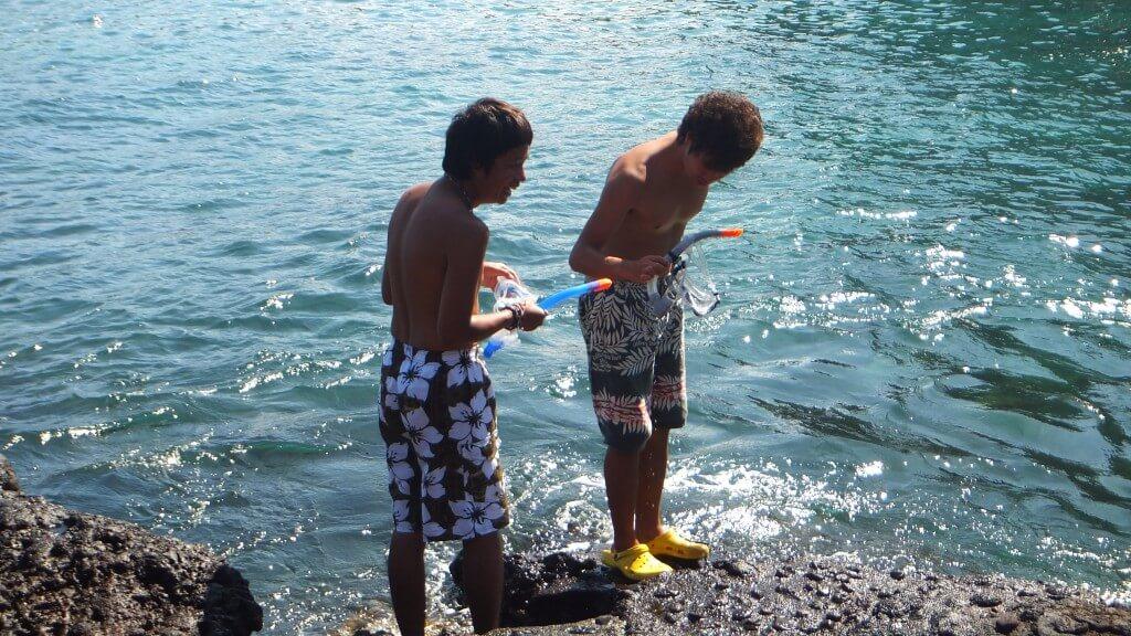 Las Tijeretas シュノーケリング タコ サン・クリストバル島 ガラパゴス諸島