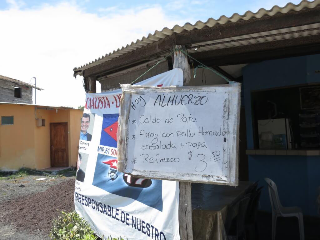 イサベラ島 安食堂 ガラパゴス諸島