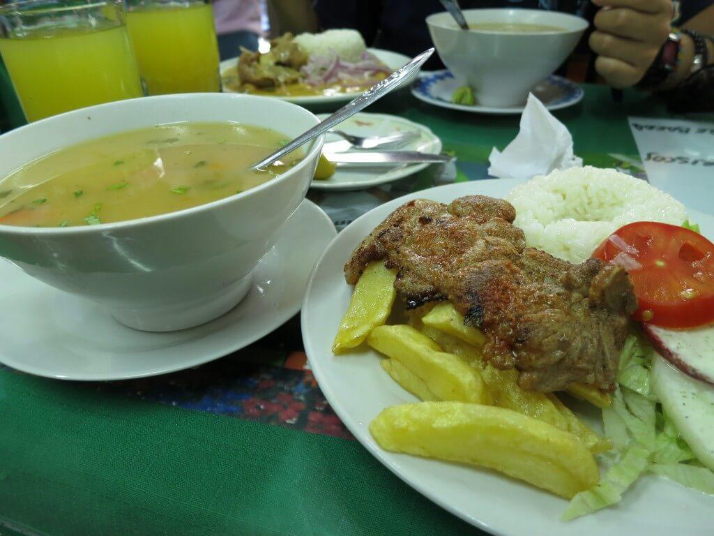 ペルーのリマでペルー料理!セットでお安いよ♪
