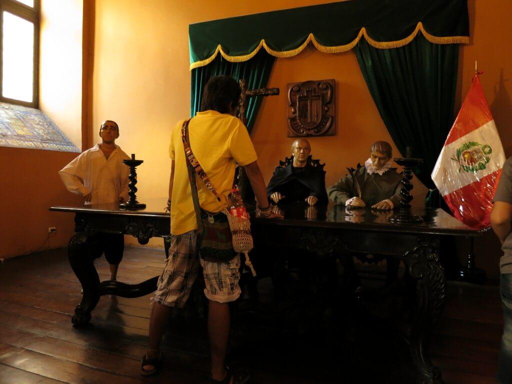宗教裁判所博物館 旧市街 リマ ペルー