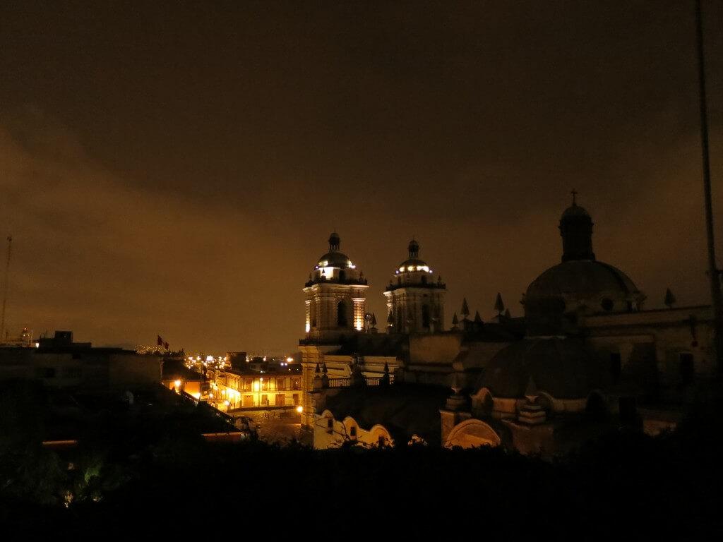 夜景 サンフランシスコ教会とサンクリストバルの丘 Hotel Espana(ホテル エスパーニャ) リマ 美術館 動物園 彫刻 絵画 ペルー