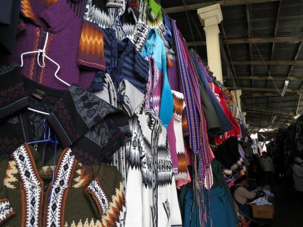 ペルーのクスコのお土産!現地民族柄の服!ポンチョ!