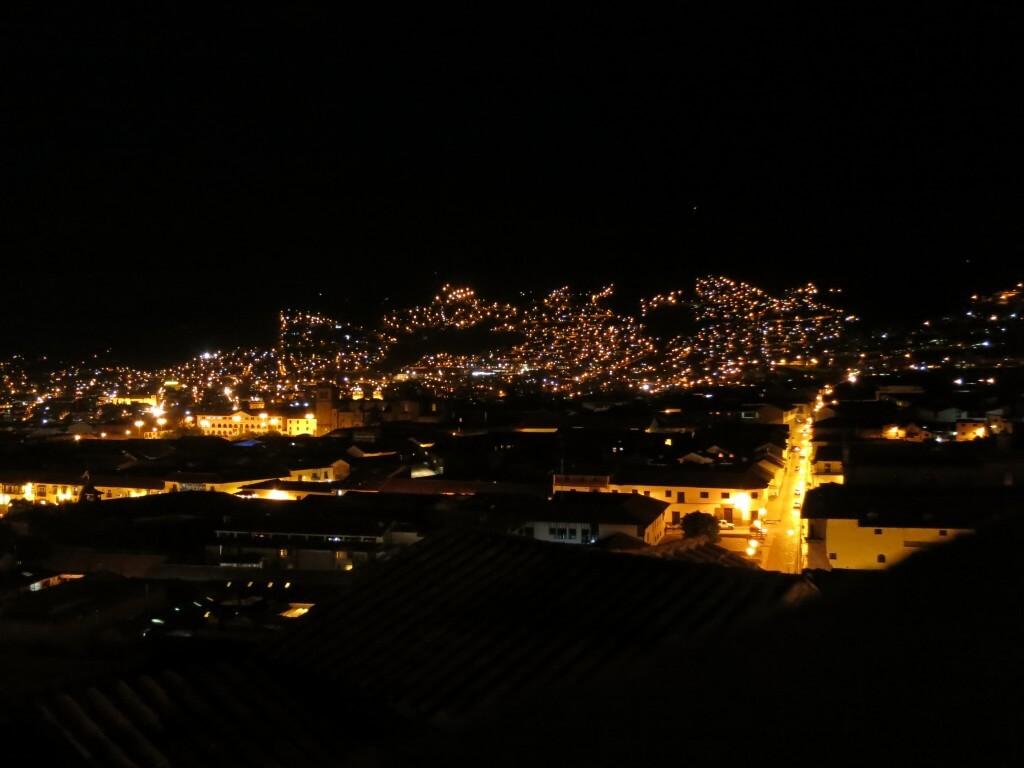 カサ・デル・インカ 屋上 夜景 クスコ ペルー