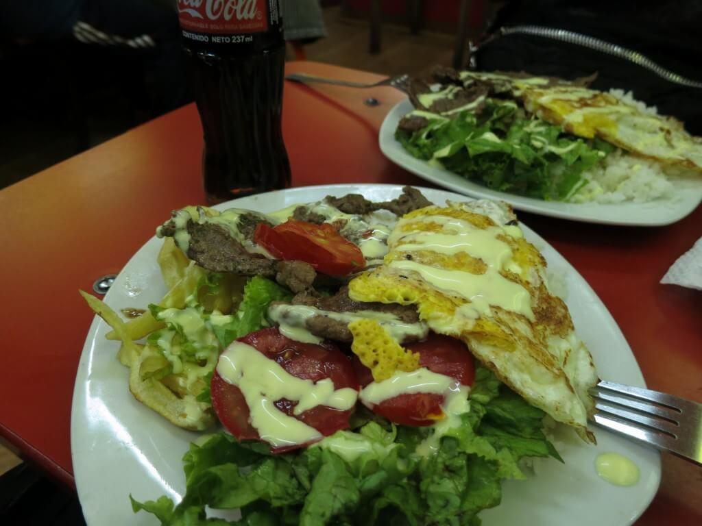 ペルー風チキンとマヨネーズと野菜のごはん!