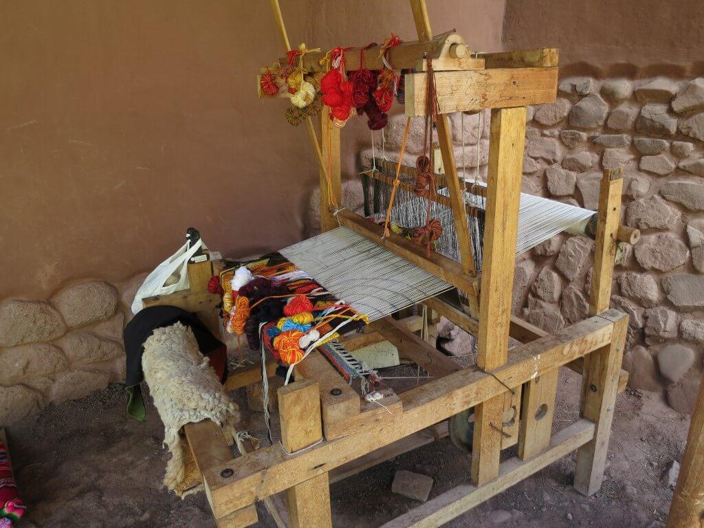 Awana Kancha(アルパカ牧場)ではインディヘナの手作りアルパカ製品が売ってるよ!お土産にいかが?