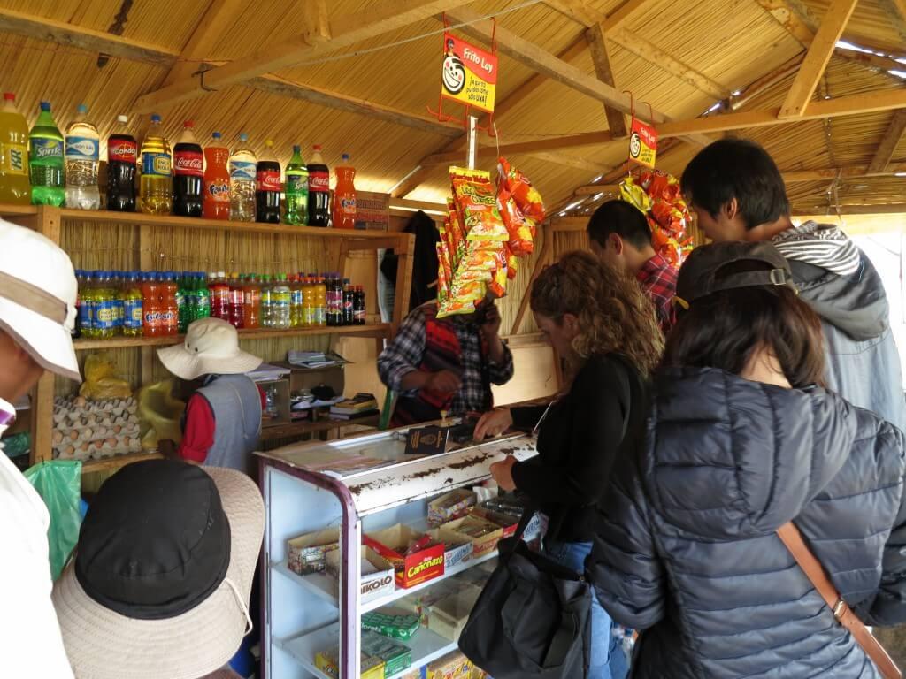 今日のコーラ ウロス島の売店