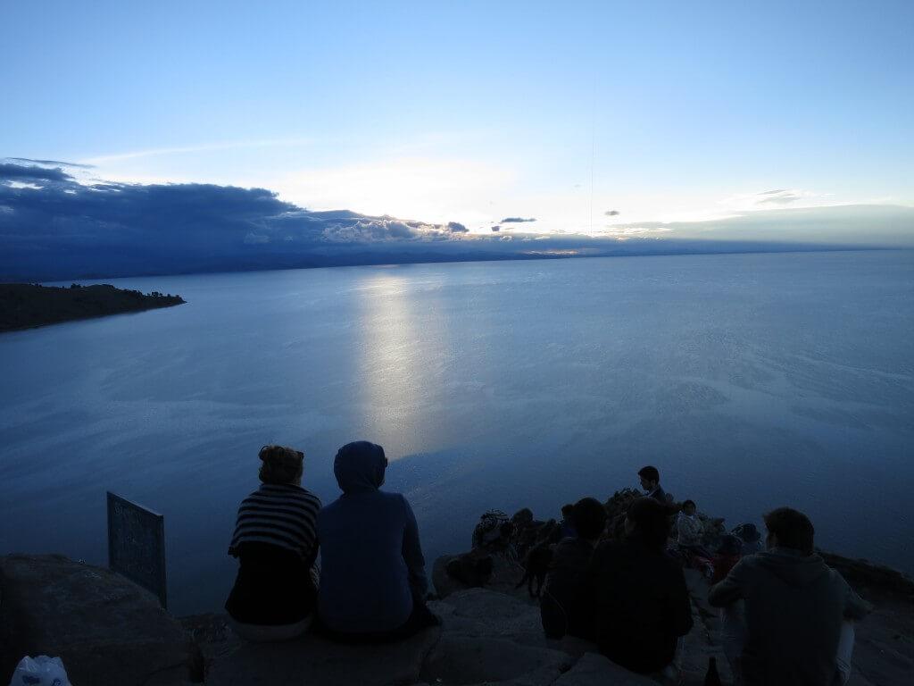 カルバリオ山 夕日 コパカバーナ ボリビア