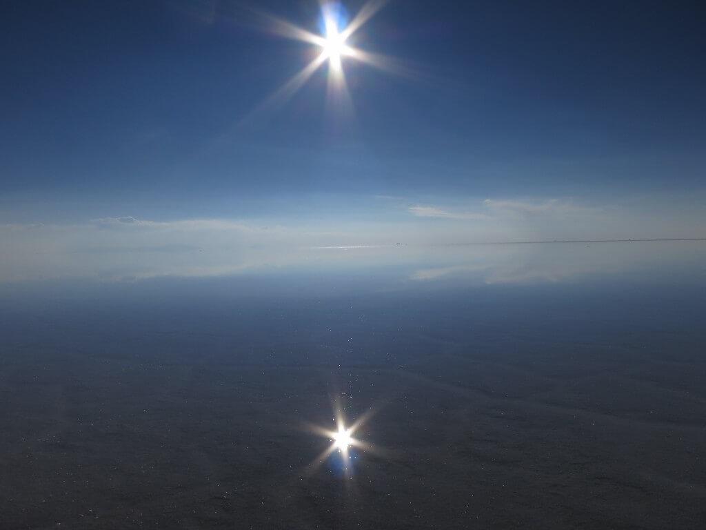 新月 ウユニ塩湖 満天360度星空のウユニ塩湖 鏡張りの世界