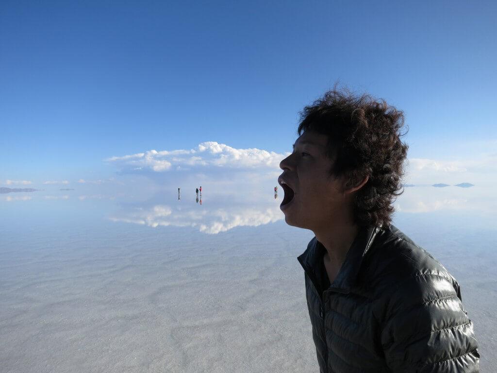 ウユニ塩湖 トリック写真