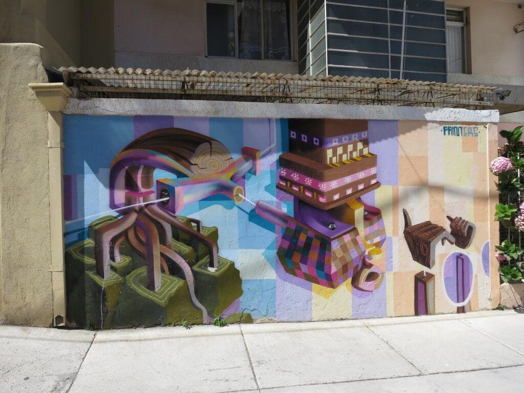 バルパライソの街はアートの街!ポップでキャッチーな絵があるよ!