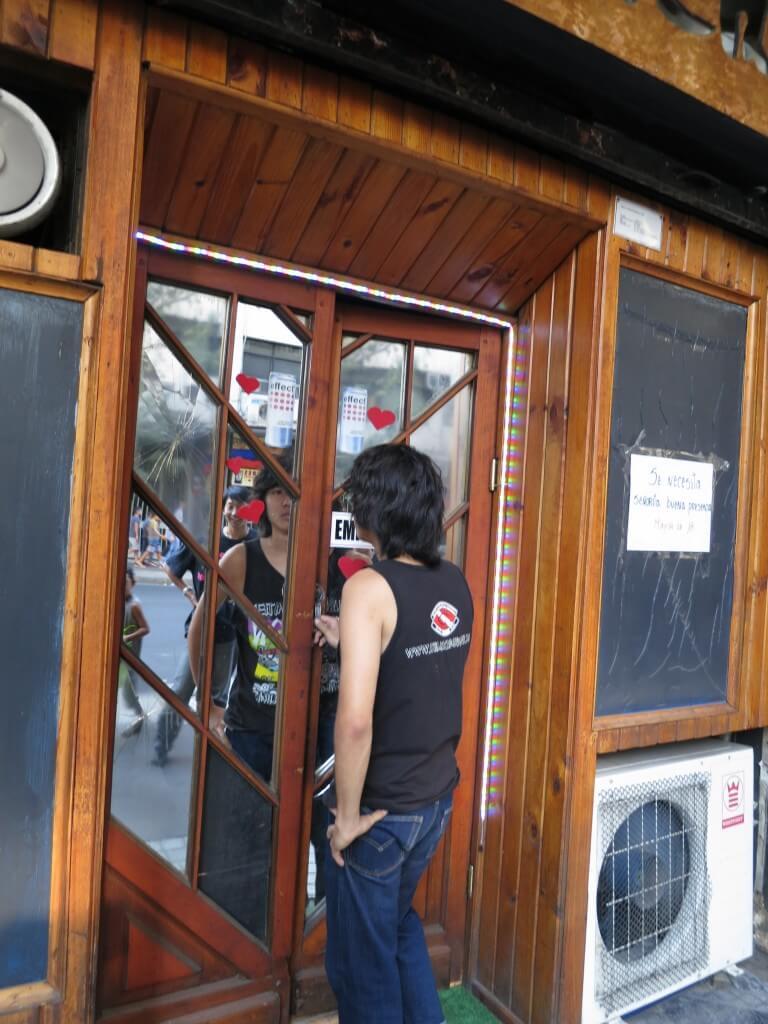 サンティアゴ チリ 怪しいカフェ