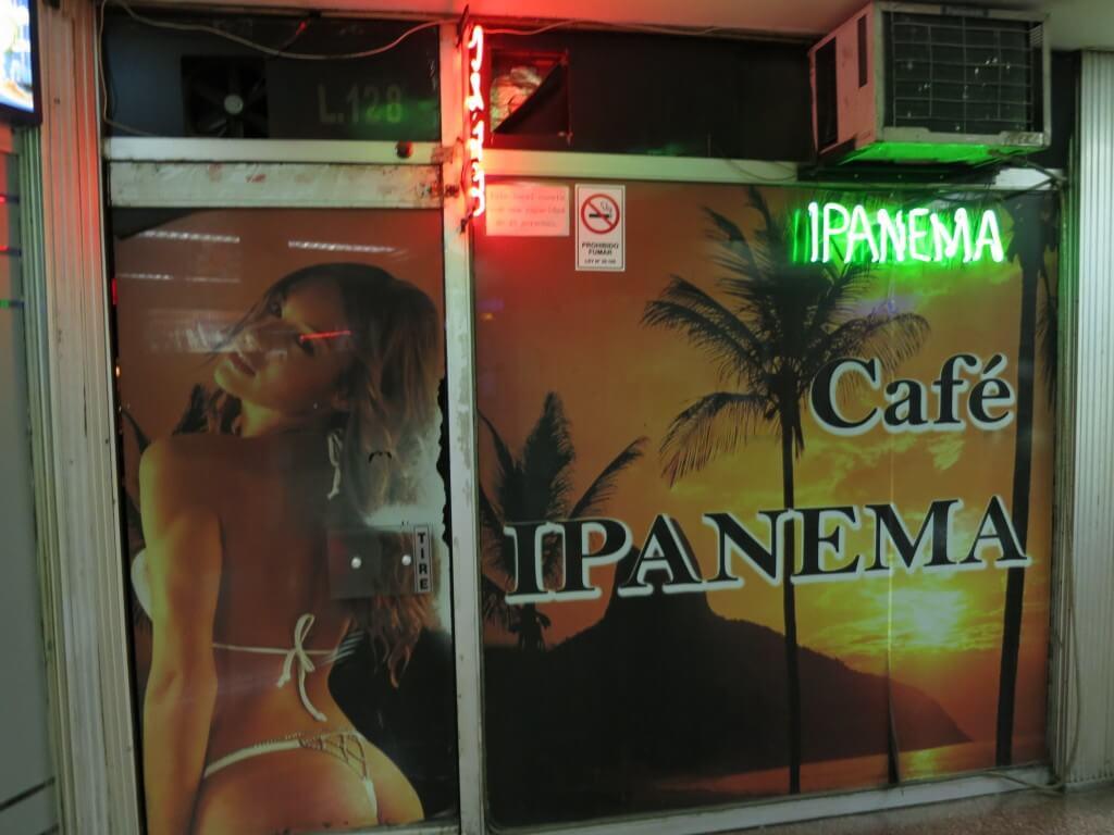 下着カフェ アンダーウェアカフェ サンティアゴゴ チリ