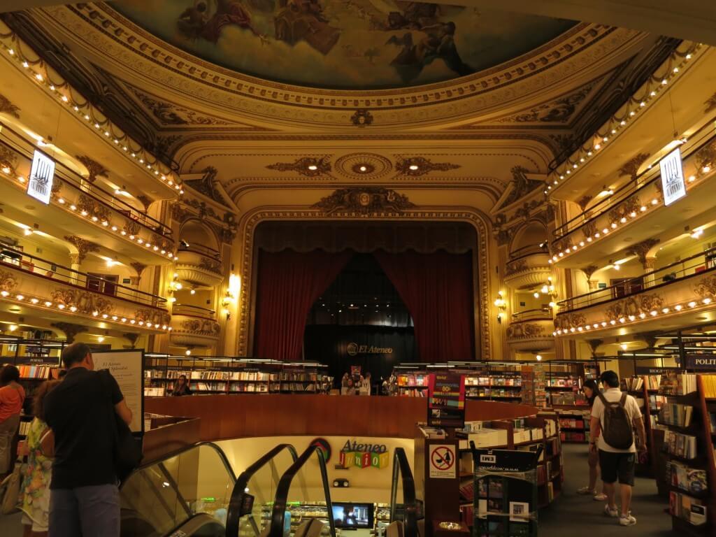 「世界で2番目に美しい本屋さん」El Ateneo(エル・アテネオ)は本当に美しい!!