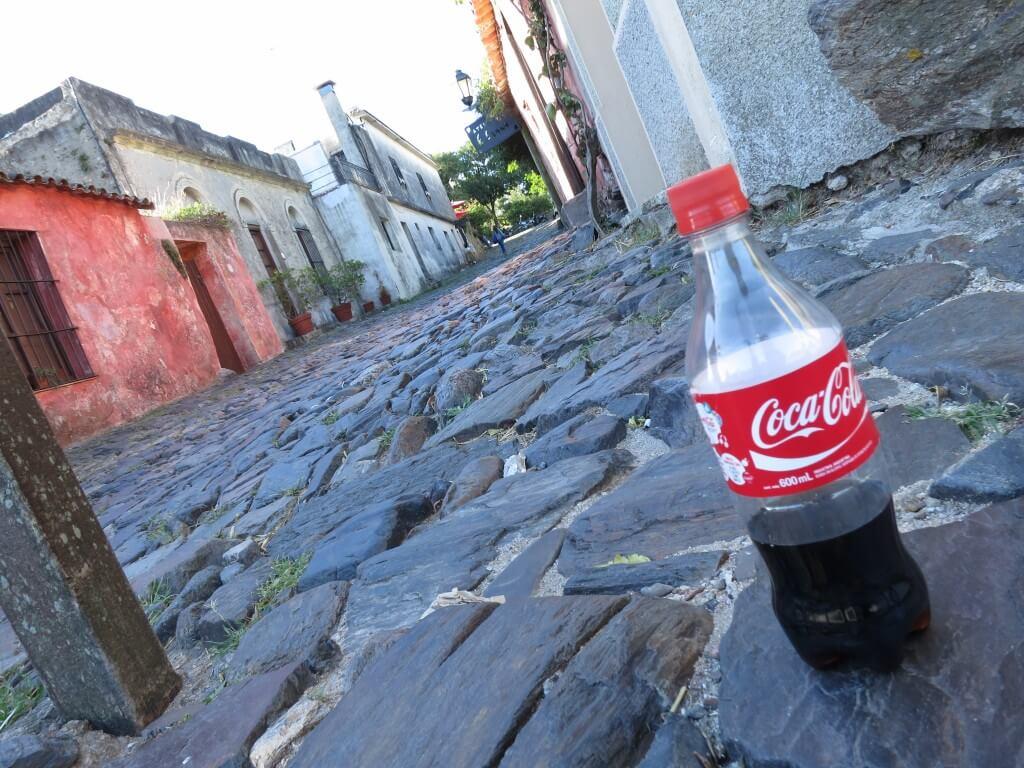 今日のコーラ ウルグアイのコロニア・デル・サクラメントの街並みと