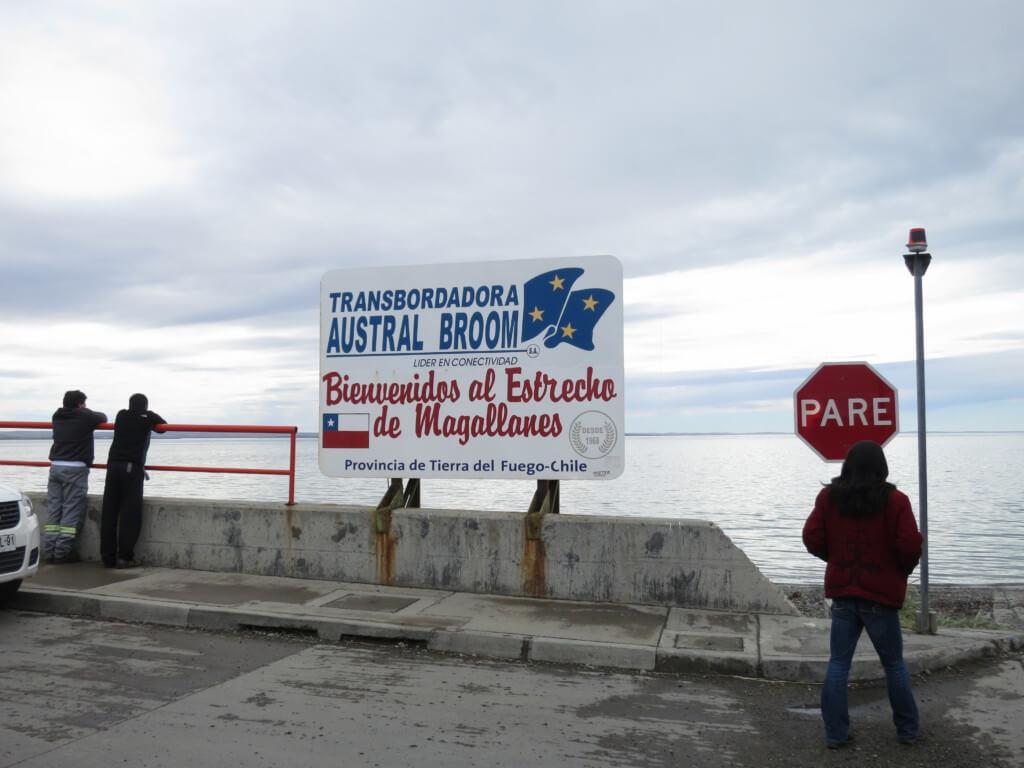 この国境越えの間に「マゼラン海峡」も渡りますよ♪